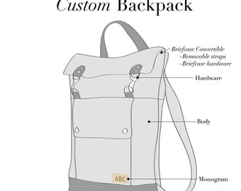 Custom Canvas Backpack, Mens Leather Backpack, Professional Laptop Backpack, Rucksack Bag, Back to School Backpack, 17 inch Laptop Backpack