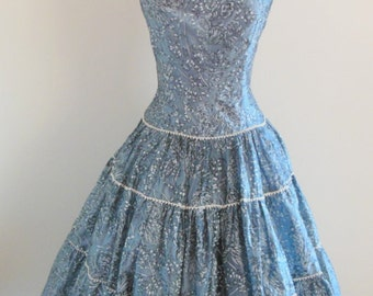 A London Town Model • vintage early 1950s dress • tiered 50s party dress