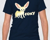 Men's Tee - Fennec Foxy Shirt - Sizes XS-S-M-L-XL-2XL-3XL - Cute Animals Hot Guys Fox Boyfriend Tshirt
