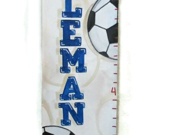Hat-Trick Soccer Themed Canvas Growth Chart