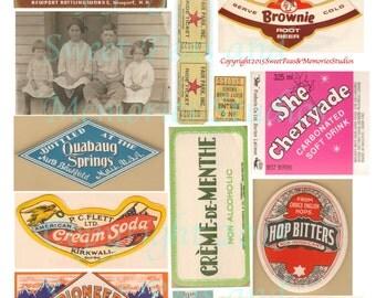 Soda Pop Summer 3 Digital Collage Sheet