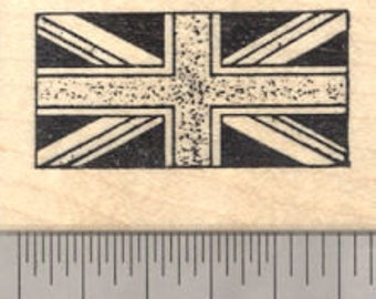 Flag of the United Kingdom Rubber Stamp, Union Jack D24303 Wood Mounted