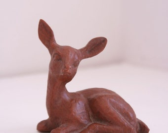 Vintage Red Mill deer hand carved doe