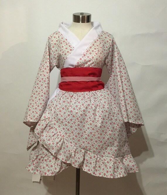 Simple Kimono Dress With