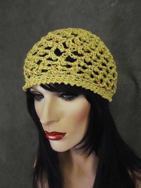 Crochet Skull Cap : Cotton Skull Cap, Crochet Skull Cap, Cotton Yarn/ Beanie/Skull Cap ...