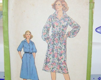 Vintage 1978 SIMPLICITY Misses dress pattern, complete, trimmed, Misses size 16, bust 38 inches, pattern number  8679