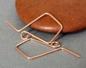 14k Rose Gold Filled Handmade Earwires, Artisan Kite Earring Findings, Original Signature Series