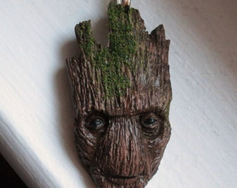Sculpted Groot Pendant