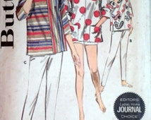 Butterick 2743 Vintage 60's Sewing Pattern, Misses' Quick & Easy Sportswear, Overblouse/Cover Up, Pants, Shorts, Size 16, 36 Bust