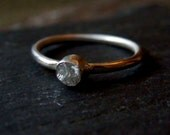 Custom rough diamond ring / raw diamond ring / rough diamond / wedding ring / engagement ring / natural diamond / diamond jewelry