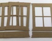 Window & Window Box - Chipboard Die Cuts - Bare Vintage Embellishments