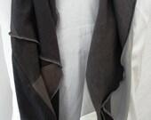 Hemp/Tencel and Hemp/Organic Cotton Infinity Scarf in Shades of Black and Grays Greys Handmade