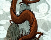 Dragon Peaks 12x18 art poster