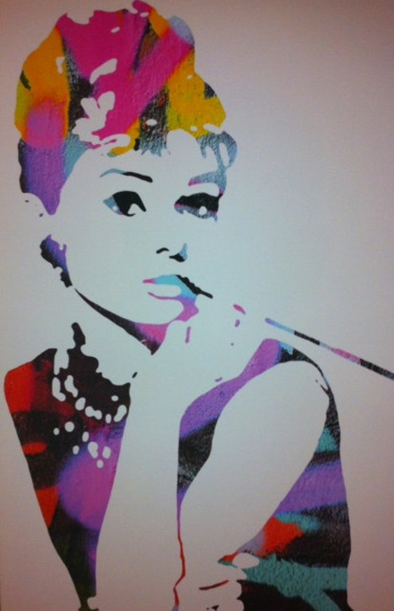 Audrey Hepburn Graffiti Pop Art Print