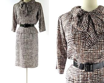1950s Silk Dress | Chatterton Dress | 50s Dress | Suzy Perette Dress | XS