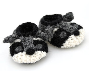 Wool Baby Raccoon Shoes