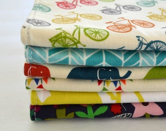 Baby Burp Cloths, Set of 6, Eco- Organic Burp Cloths, Baby Shower Gift, Choose Your Fabrics, Modern Burping Cloths, Welcome Baby Gift