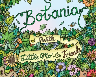 Botania Colouring Book - 26 pages of detailed nature and animal illustrations, art book for kids and adults