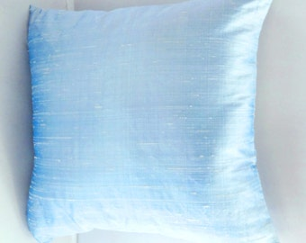 Baby  Blue dupioni silk pillow cover-16inch throw pillow- new arrivals postal color