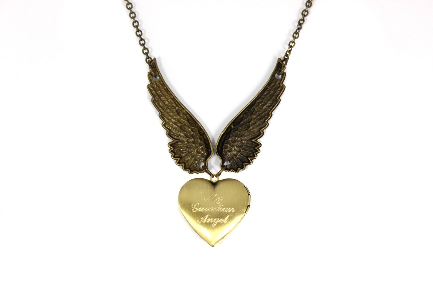 engraved necklace wing necklace locket necklace