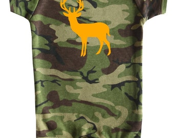 Deer Silhouette - Graphic Baby Bodysuit for Boys