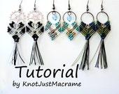 Gypsy Earrings Tutorial DIY Pattern Instructions Micro Macrame