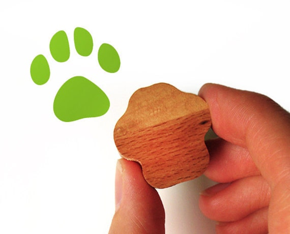 Cat Paw Rubber Stamp, Cat Lover Gift for Card Making and Scrapbooking