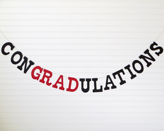 Graduation Banner - 5 Inch Letters - Congradulations ...