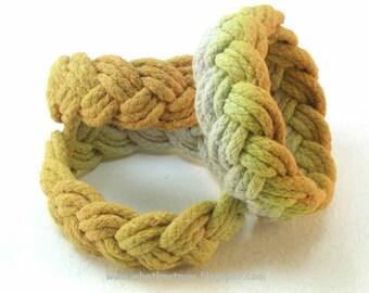 freesia yellow ombré rope bracelets handmade turks head knot bracelet armband sailor bracelets rope jewelry nautical jewelry 3130