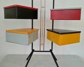 SEWING BOX / 50s Dutch Teders Metalux  / mid century modern / pastoe / boxes metal wood