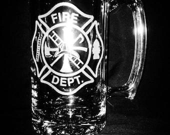 Fire Department 25 Ounce Beer Mug
