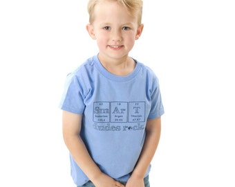 Smart Dudes Rock Shirt - Toddler Sizes - Science Chemistry Periodic Table Nerd Geek Fashion