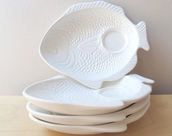 white ceramic fish plates seafood serving plate for nautical decor