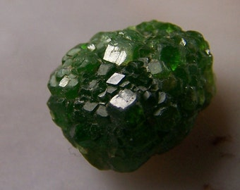 Demantoid Garnet crystal cluster - natural - gem mineral - chrome green specimen high end - wire wrap stone - coyoterainbow cube geometric