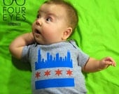 Chicago Skyline Baby Apparel - Pick Your Size