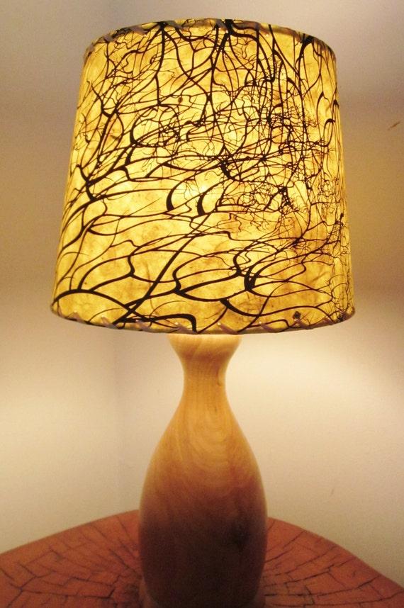 Tree Root Silkscreened Paper Lamp Shade By Botanicallampshades