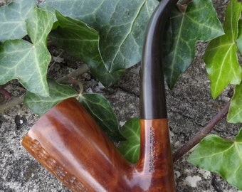Vintage Importad Briar Pipe Italy Carved Briar Wood Tobacco Pipe