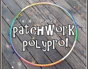 The PATCHWORK Polypro - Fully Taped Polypro Hoop! THE Most Unique Taped Hula Hoop You'll Find~ Your Size and Colors. Customizeable.