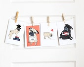 Pug Mix and Match Small Card Bundle- Choose Any 4 Pug Cards