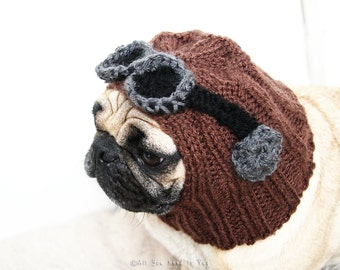 All You Need is Pug Aviator Dog Hat - Pug Hat - Pug Clothing - Dog Clothing