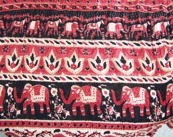 Boho Skirt,  India skirt, Elephant skirt,  Tribal skirt, Gypsy skirt, Drawstring skirt, Animal skirt, size osfm