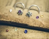 Little Version of the V Style - Choose Your Own Faceted 2mm Stone