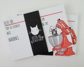Kitten Aid Recipe Cards - Red / Hedwig Edition - ALMOST GONE!