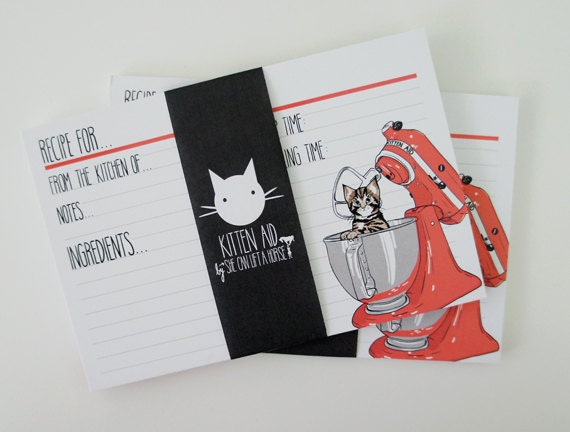 24pc - Kitten Aid Recipe Cards - Hedwig Edition