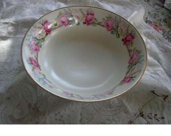 Antique Large Rose Serving Bowl - Prince Regent China Germany
