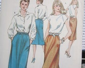1330  KWIK SEW Pattern       Misses  skirt  Sizes 14  16  18  20