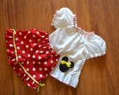Girls Disney outfit Minnie mouse birthday outfit Minnie mouse top and shorts Minnie vacation Minnie birthday outfit