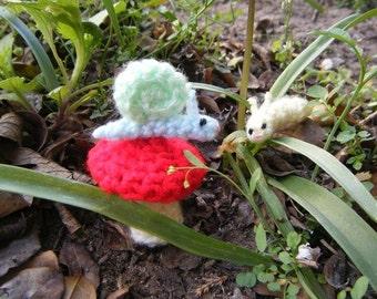 Crochet Snail & Crochet Caterpillar Pattern Bundle - crochet musrhoom pattern - snail pattern - amigurumi snail - amigurumi caterpillar