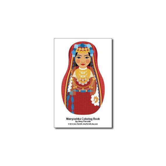Matryoshkas (G) Mini Coloring Book Printable file