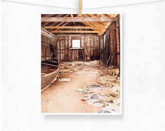 Decay Photography, Abandoned Barn, Rural Decay, Window, Barn Photograph, Urbex, Brown Decor, Rustic, Rural Art, Cottage, Forgotten Place